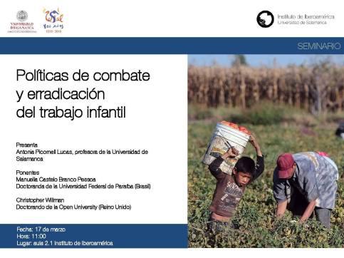 Políticas de combate y erradicación del trabajo infantil